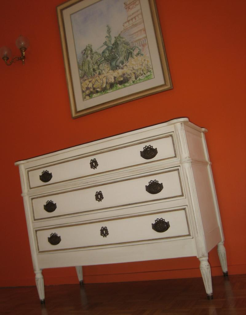 commode patine 2 couleurs