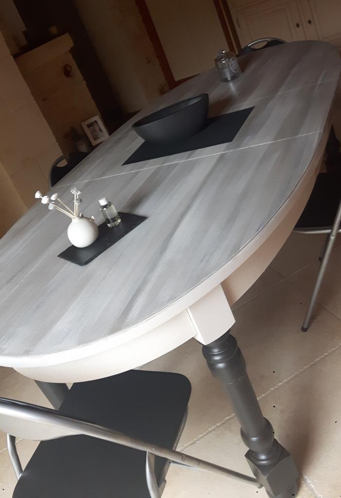 Gros plan table
