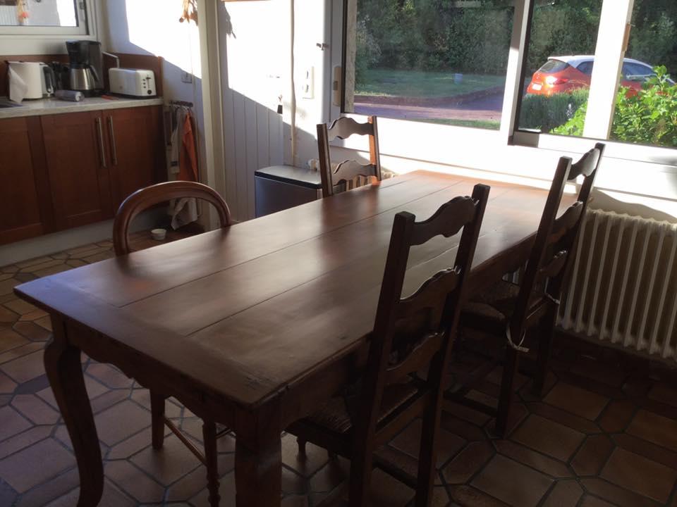 Table après