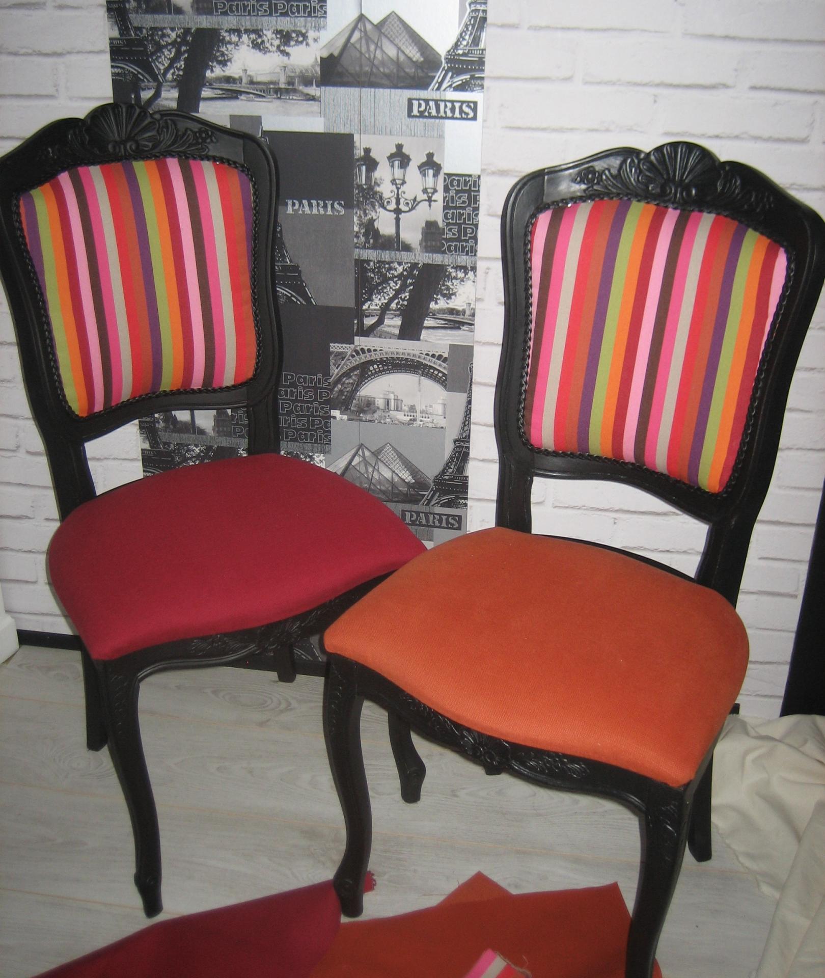 Les chaises avant et apr s for Chaises colorees