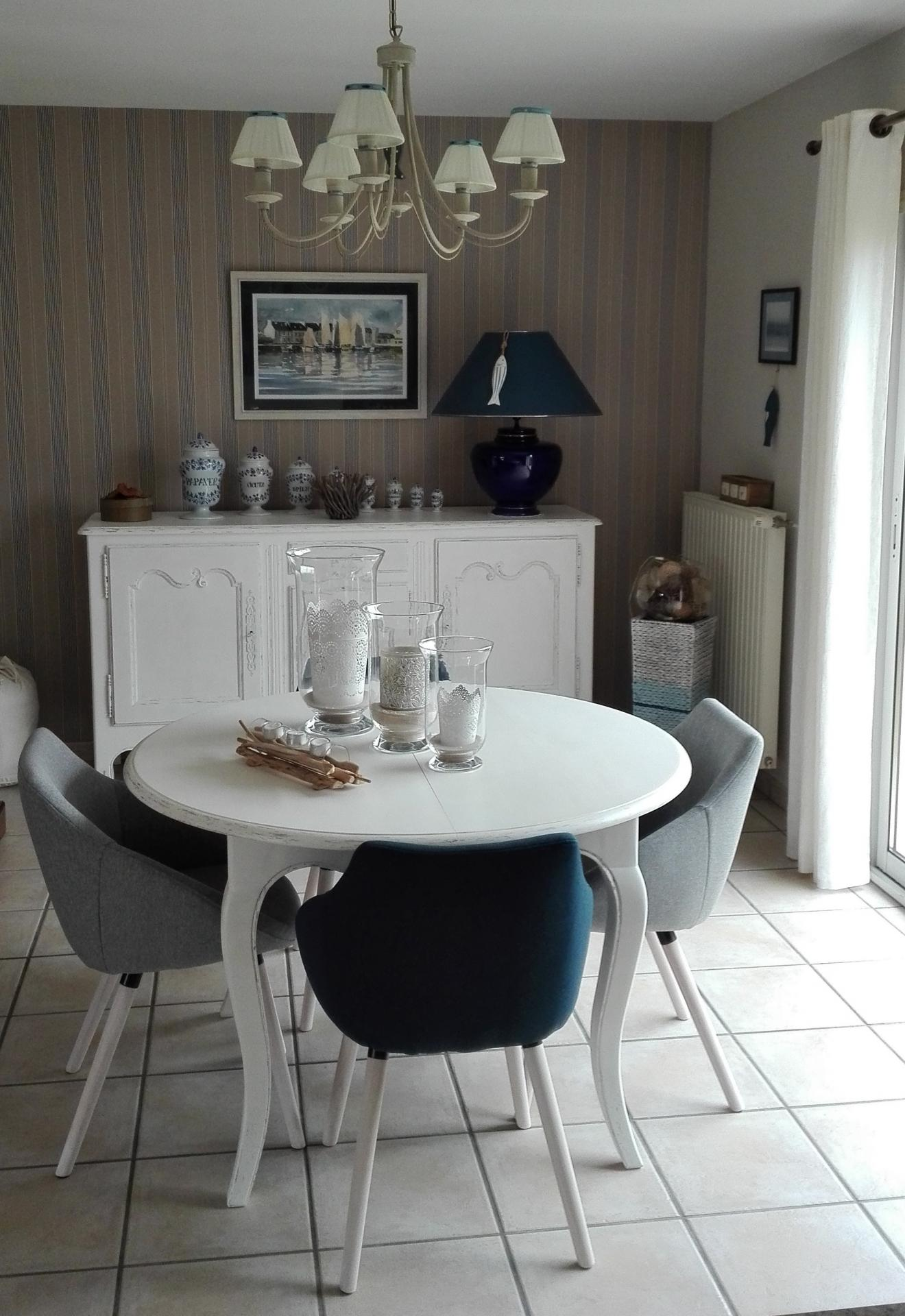 Table et chaises Shabby Chic